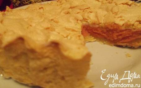 Рецепт Клюквенно-апельсиновый пирог с меренгой