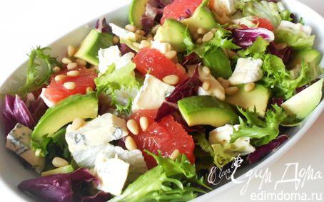 Рецепт Салат с голубым сыром