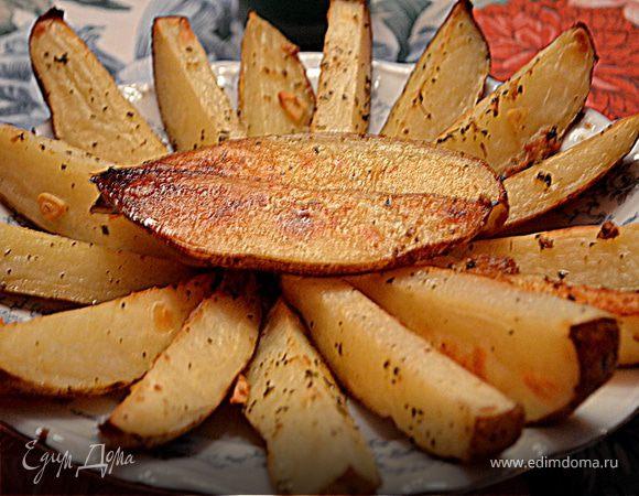 Пряный картофель дольками