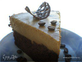 """Торт """"Капучино"""" c кремовым ликером и нотками кофе + шоколадные фигурки пейсли"""