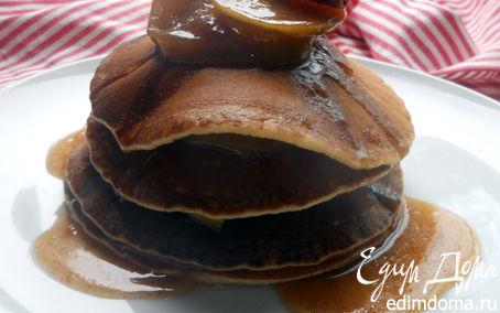 Рецепт Панкейки с карамелизованными яблоками