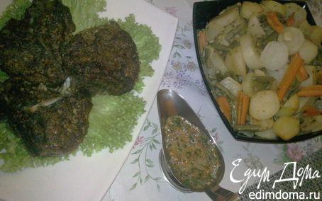 Рецепт Антрекот в ореховом маринаде с овощами