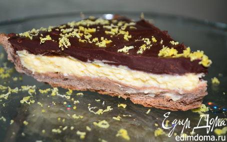 Рецепт Нежный лимонно-шоколадный тарт
