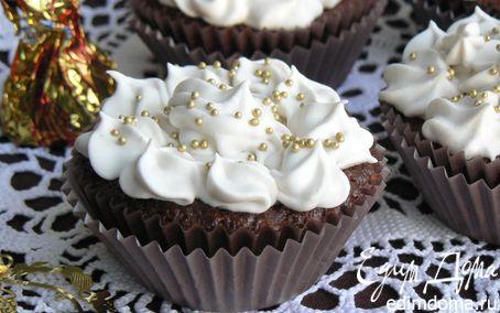 Рецепт шоколадно-творожные кексы с брусникой