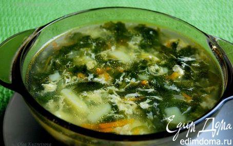 Рецепт Суп из шпината с яйцом