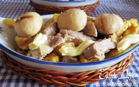 Рецепт Мясной салат с омлетом