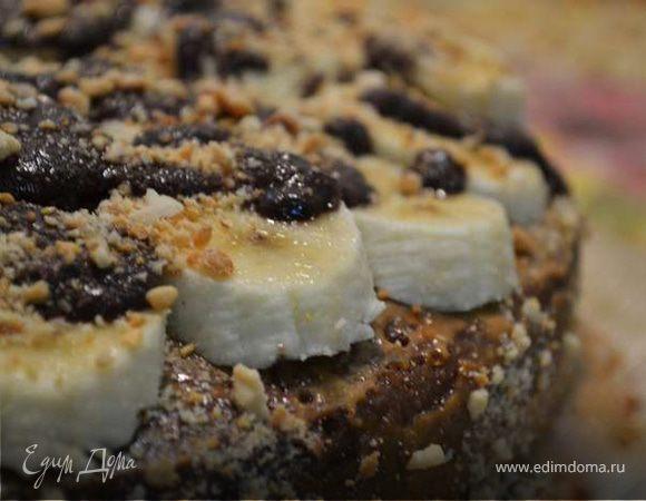 рецепт торт с бананами шоколадный