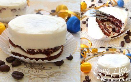Рецепт Пирожное «Черно-белое наслаждение»