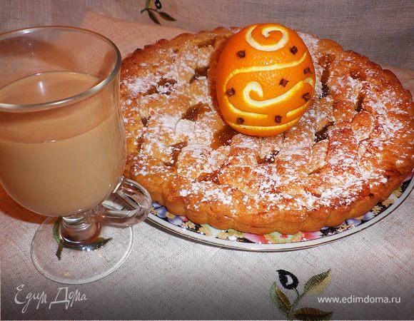 Кростата с апельсиновым джемом (Crostata di Roma)