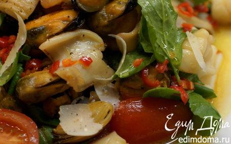 Рецепт Салат с морепродуктами