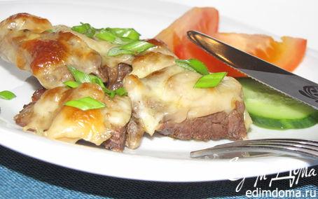 Рецепт Отбивная с сыром и грибами