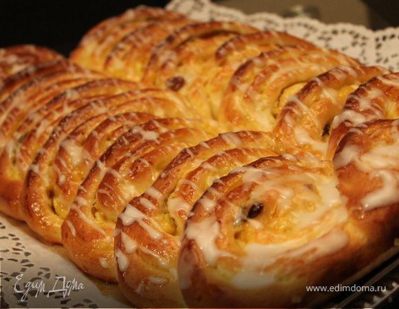 Пирог-улитка с пудингом