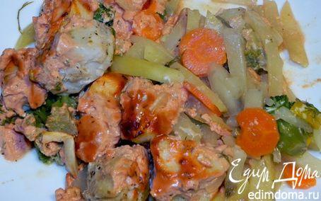 Рецепт Нототения, запеченная с овощами