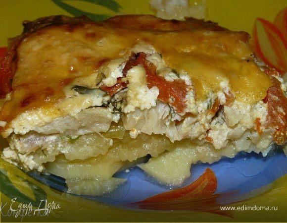 Обалденная вкусная запеканка картофельная с рыбкой!