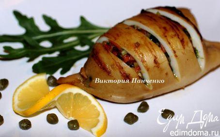 Рецепт Кальмары, фаршированные овощами