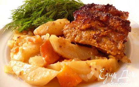 Рецепт Жаркое со свиными ребрышками в пикантном маринаде
