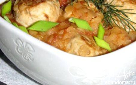 Рецепт Куриные фрикадельки с чечевицей