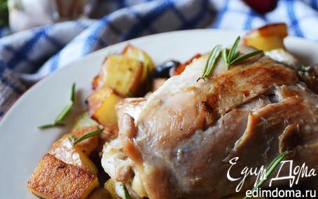 Рецепт Куриное жаркое с грибами, картофелем и розмарином