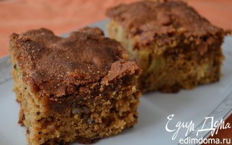 Рецепт Влажный яблочный пирог с орехами