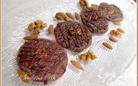 Рецепт Шоколадно-ореховое печенье без муки