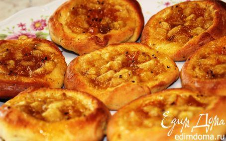 Рецепт Мятные ватрушки с дынным джемом в хлебопечке