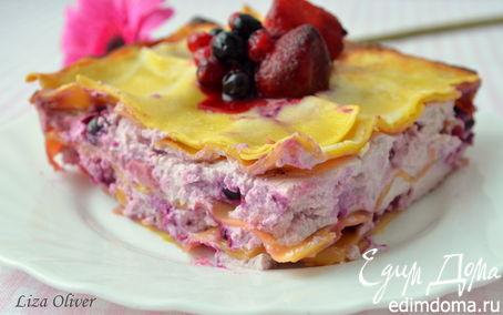 Рецепт Лазанья с рикоттой и ягодным ассорти