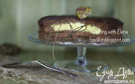 Рецепт Шоколадно-трюфельный торт с ванильным кремом