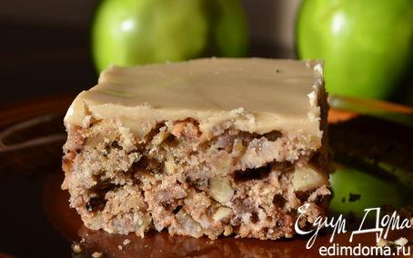 Рецепт Старомодный яблочный кекс с коричневой глазурью