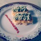 пюре со шпинатом на сырной подушке