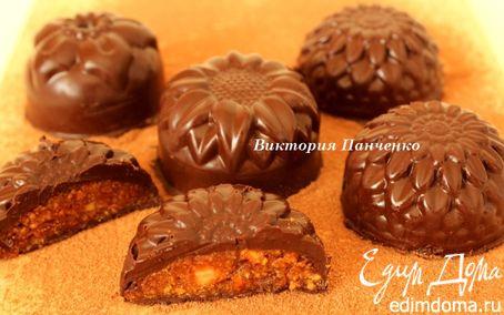 Рецепт Шоколадные конфеты с миндалем и апельсином