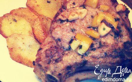 Рецепт Свиная котлета с картофелем