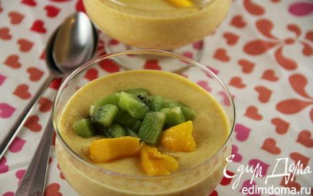 Рецепт Легкий крем-мусс из манго с рикоттой (творогом)