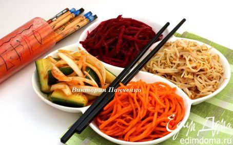 Рецепт Ассорти из корейских закусок