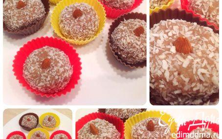 Рецепт Кокосовые Сыроедные пирожные