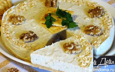 Рецепт Закусочный чизкейк с горгонзолой и грецкими орехами