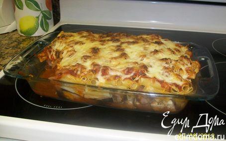 Рецепт Запеченные Ригатони с баклажанами и итальянскими сосисками (сырыми)