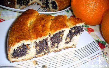 Рецепт Маковый пирог-спиралька