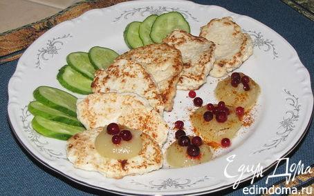 Рецепт Курино-овощные оладьи с яблочным соусом