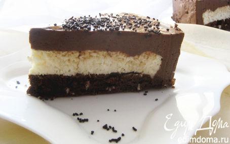"""Рецепт Торт-мусс """"Кокос в шоколаде"""""""