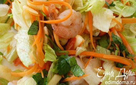 Рецепт Азиатский салат с Креветками