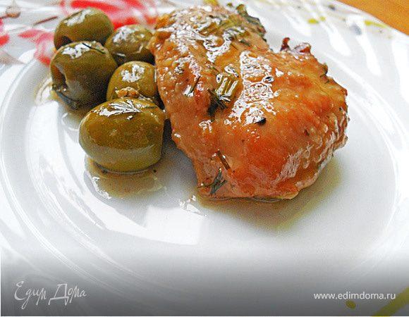 Куриная грудка с оливками