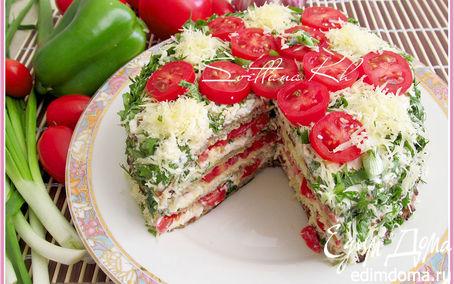Рецепт Закусочный баклажанный торт