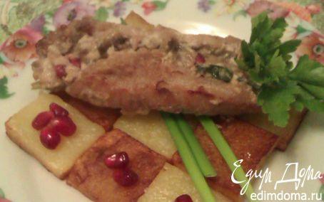"""Рецепт """"Награда мудреца"""" - Свиные рулетики, фаршированные грибами с картофелем"""