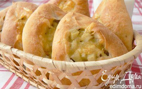 Рецепт Пирожки из творожного теста с мясом и картошкой