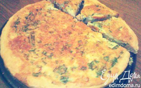 Рецепт Пирог с зеленым луком и сыром