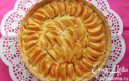 Рецепт Ароматный яблочный пирог с творожным кремом