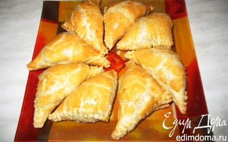 Рецепт Слоеные закусочные пирожки с грибами
