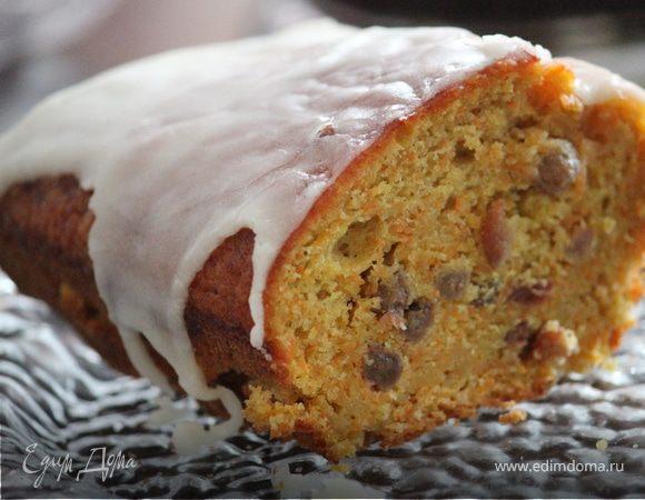 Морковный кекс под лимонной глазурью