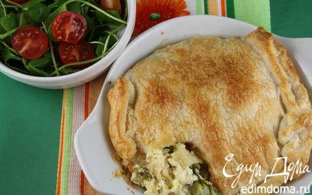 Рецепт Итальянский пирог со спаржей и тремя видами сыра