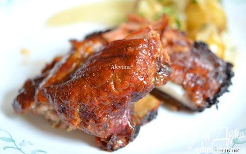 Рецепт Свиные ребрышки в медовой глазури